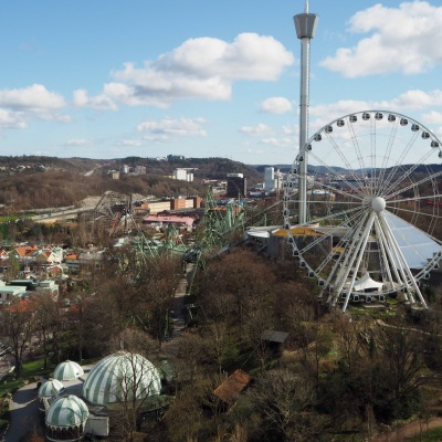 view over Liseberg park