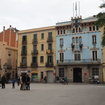 old town hall on Plaza de la Vila de Gracia