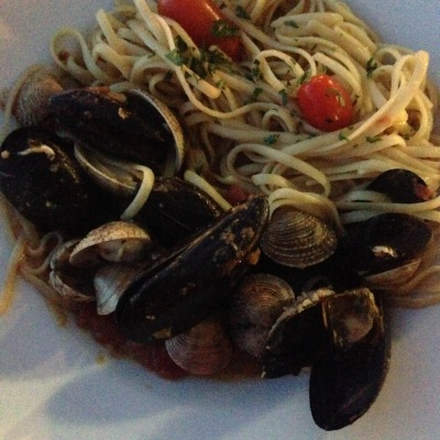 that seafood spagetti