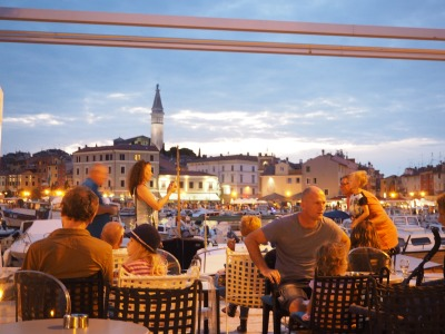 summer night in Rovinj, Croatia