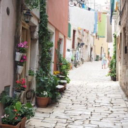 romantic streets of Rovinj