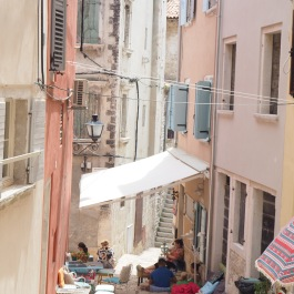 cafe on the stairs, Rovinj
