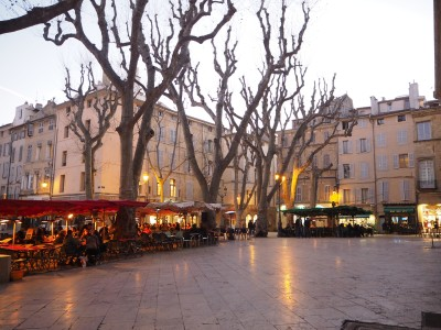 winter evening in Aix-en-Provence