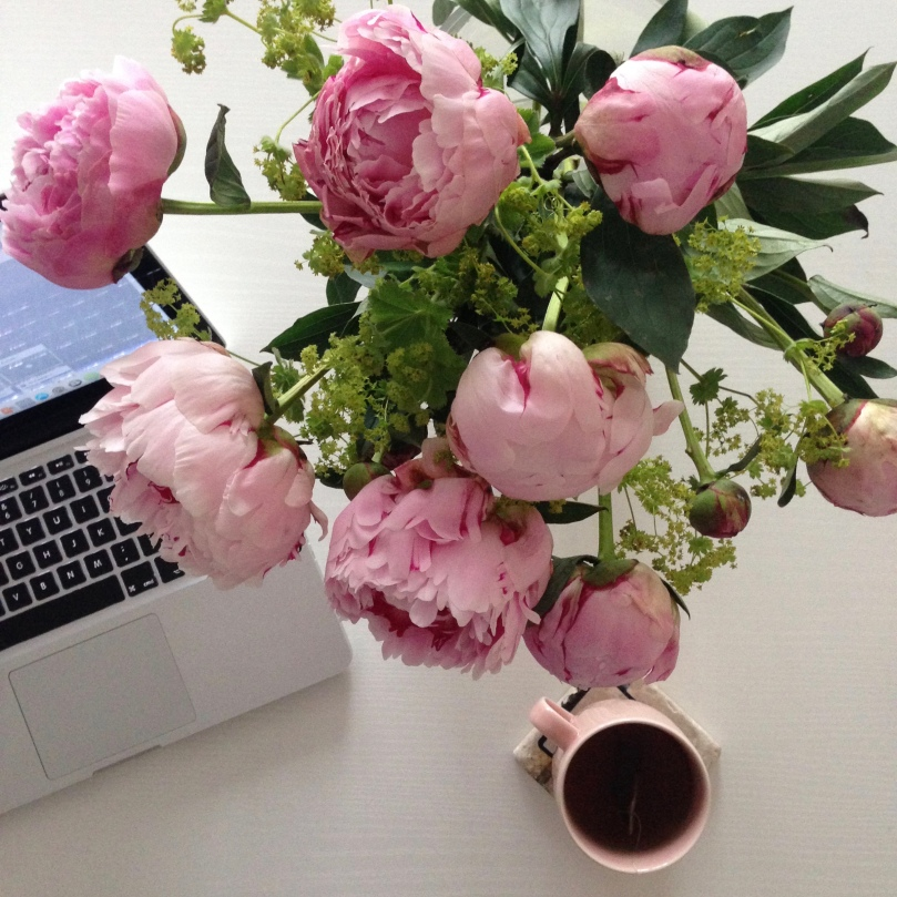 peonies and Mac