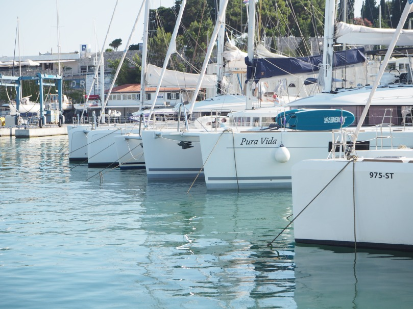 boats in the marina of Split