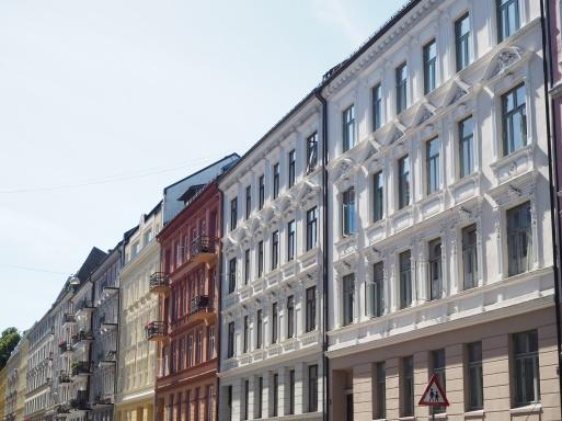 facades of St. Hanshaugen