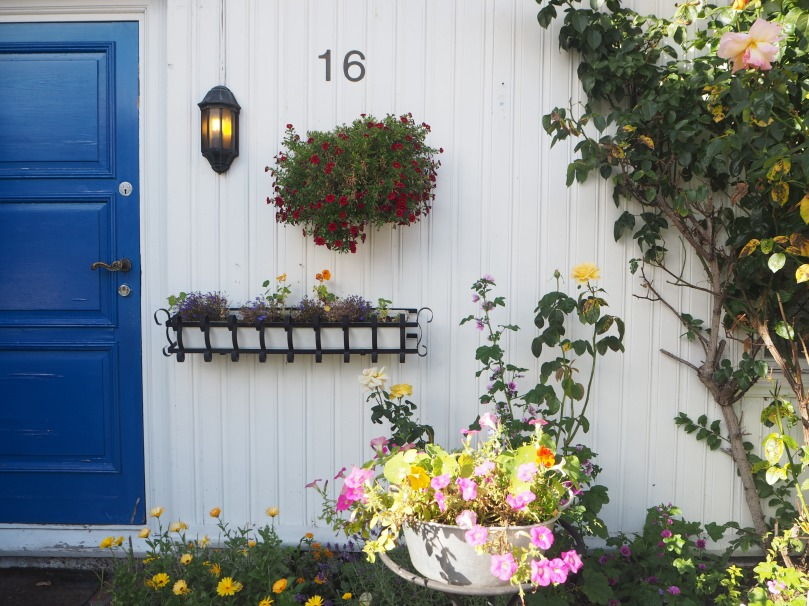 door and flowers, Norway