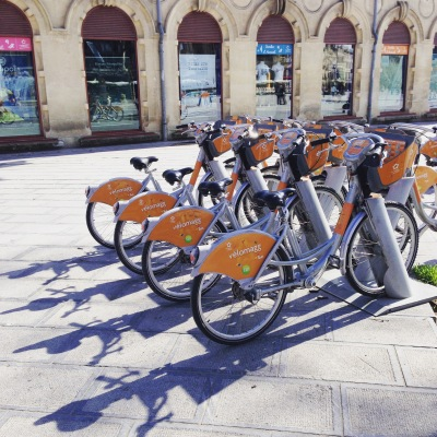 city bikes of Montpellier