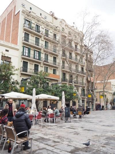 square life in Gracia, Barcelona