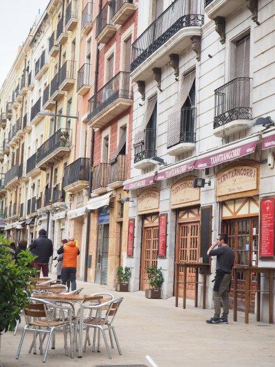 the facades in Tarragona