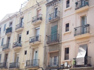 facades in pastel