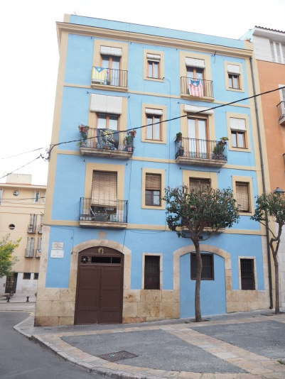 one more blue house