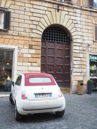 new Fiat, old door