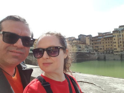 got a spot in front of Ponte Vecchio