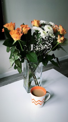 flower and coffee match