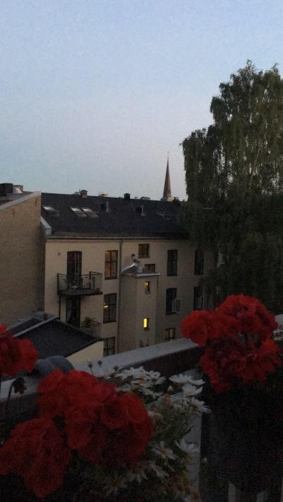 a night on the balcony