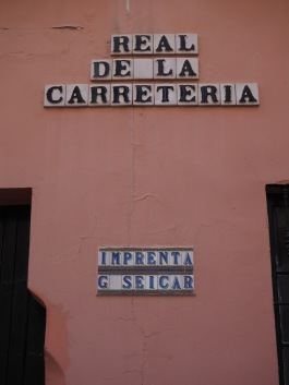 street name in typical letters