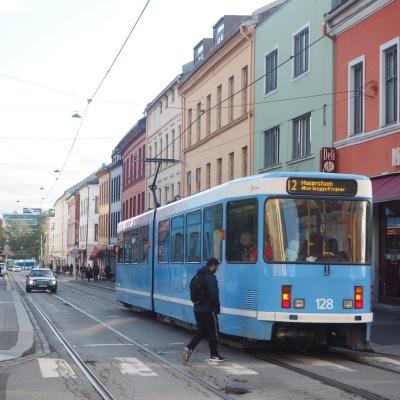 that blue tram