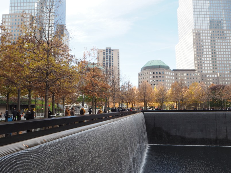 autumn at 9/11 memorial