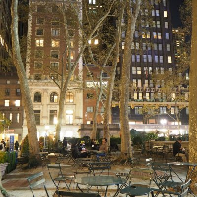 Bryant Park, in the middle of Midtown