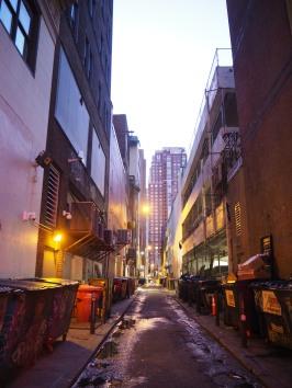 backstreets at dusk