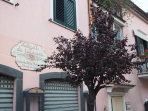 facades of Cetara, Italy