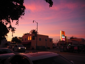sunset in Little Havana, Miami